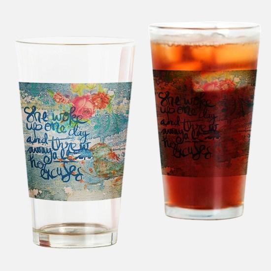 Unique Encouragement Drinking Glass