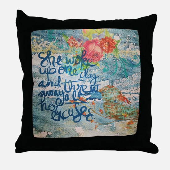 Funny Encouragement Throw Pillow