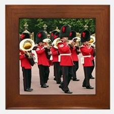 Guards Band, Buckingham Palace, London Framed Tile