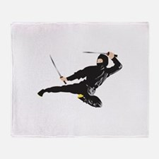 Ninja kick Throw Blanket
