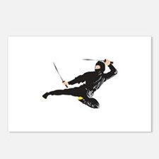 Ninja kick Postcards (Package of 8)