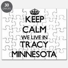 Keep calm we live in Tracy Minnesota Puzzle