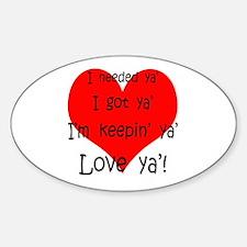 Unique Valentines day fiance Sticker (Oval)