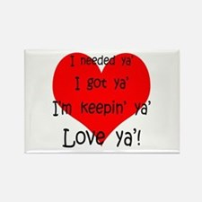 Cute Valentine%27s day for fiance Rectangle Magnet