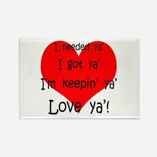 Cute Valentines day fiance Rectangle Magnet
