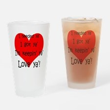 Unique Valentine%27s day for fiance Drinking Glass