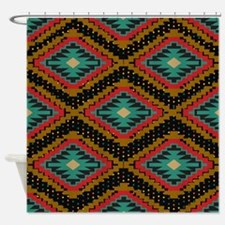 Aztec Tribal Pattern Shower Curtain