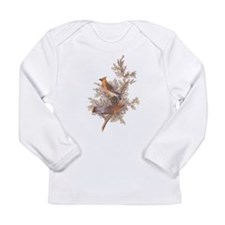 Cedar Waxwing Birds Long Sleeve T-Shirt