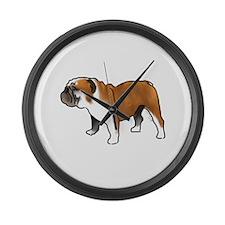 bulldog Large Wall Clock