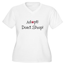 Adopt! Don't Shop! Plus Size T-Shirt