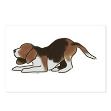 beagle playing Postcards (Package of 8)