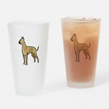 great dane fawn Drinking Glass