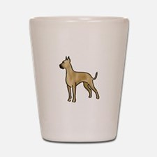 great dane fawn Shot Glass