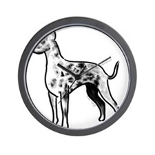great dane harlequin Wall Clock