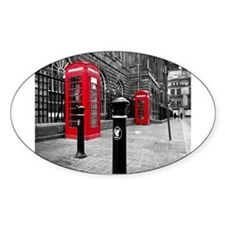 Red British Phone Boxes Decal