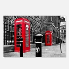 Red British Phone Boxes Postcards (Package of 8)