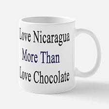 I Love Nicaragua More Than I Love Choco Mug