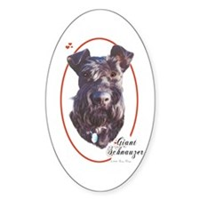 Giant Schnauzer Cameo Oval Decal