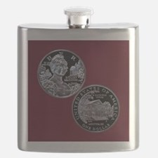 Dolley Madison Dollar Flask