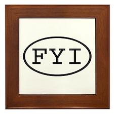 FYI Oval Framed Tile
