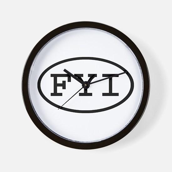 FYI Oval Wall Clock