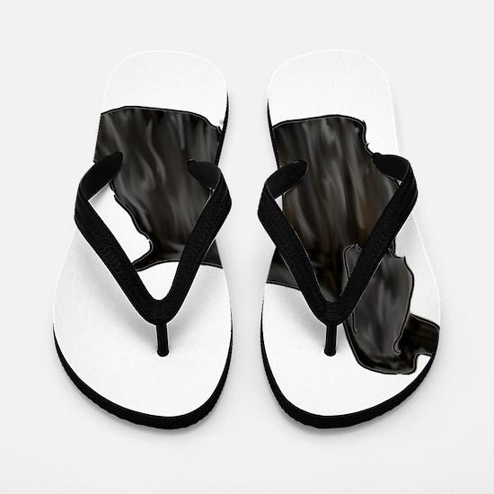 black american cocker spaniel Flip Flops