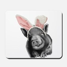 lucy the pig celebrates easter Mousepad