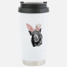 lucy the pig celebrates easter Travel Mug