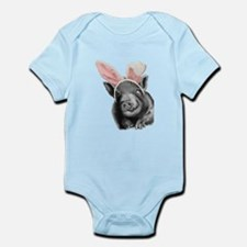 lucy the pig celebrates easter Body Suit