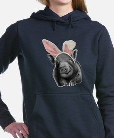 lucy the pig celebrates easter Women's Hooded Swea