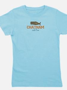 Chatham. Cape Cod. Whale Design. Girl's Tee
