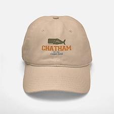 Chatham. Baseball Baseball Cape Cod. Whale Design. Baseball Baseball Cap