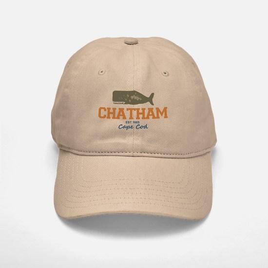 Chatham. Cape Cod. Whale Design. Baseball Baseball Cap