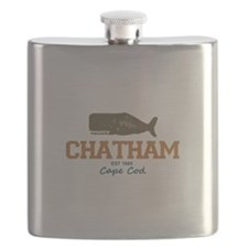 Chatham. Cape Cod. Whale Design. Flask