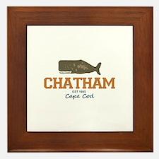 Chatham. Cape Cod. Whale Design. Framed Tile
