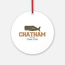 Chatham. Cape Cod. Whale Design. Ornament (Round)