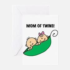 Mom of Twins Greeting Cards (Pk of 10)