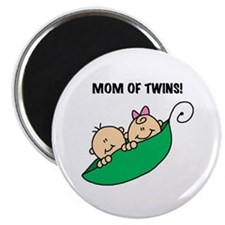 Mom of Twins Magnet