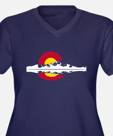 Colorado Flag - Long's Peak Plus Size T-Shirt