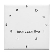 West Coast Time Tile Coaster