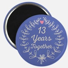 13th Wedding Anniversary Magnet