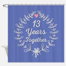 13th Wedding Anniversary Shower Curtain