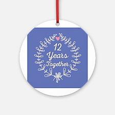12th Wedding Anniversary Ornament (Round)