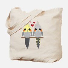 Cockatiels in Love Tote Bag