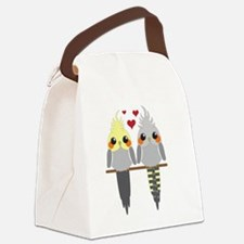 Cockatiels in Love Canvas Lunch Bag