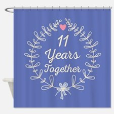 11th Wedding Anniversary Shower Curtain