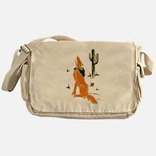 Coyote Howling Messenger Bag
