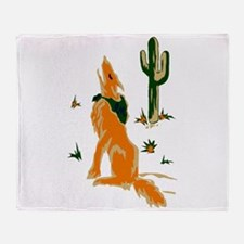 Coyote Howling Throw Blanket