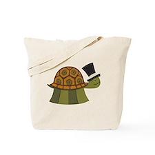 Top Hat Turtle Tote Bag