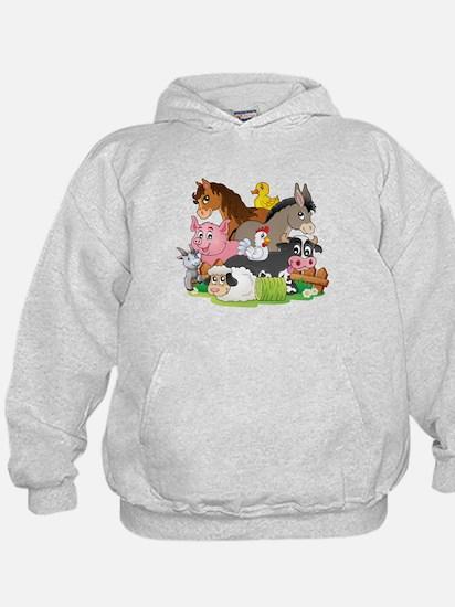 Cartoon Farm Animals Hoody
